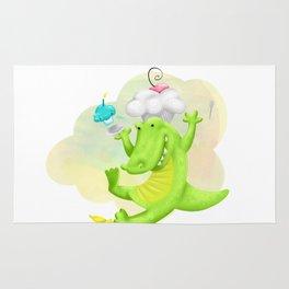 Slippery gator Rug