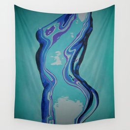 Moulded Glass Beautiful Nude Abstract  Wall Tapestry