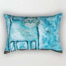 A bit tensed Rectangular Pillow