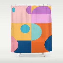 Blocks Shapes Shower Curtain