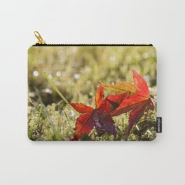 Indian Summer II Red marple leaves in wet grass at backlight Carry-All Pouch