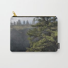 Beside The Falls, Beautiful Old Pine Tree Stands Sentry Beside A Watefall Carry-All Pouch