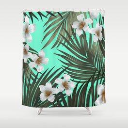 palm hawaii Shower Curtain