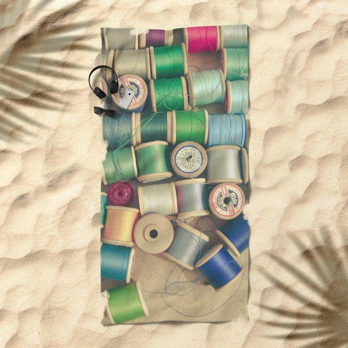 Cotton Reels Beach Towel