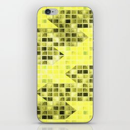 Abstract Yellow Arrows Pattern iPhone Skin