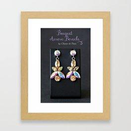 Diamond Flowers Framed Art Print