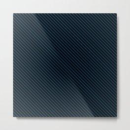 Snorkel Blue and Black Stripe Metal Print