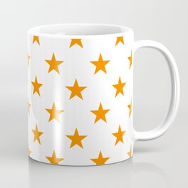 Stars (Orange/White) Coffee Mug