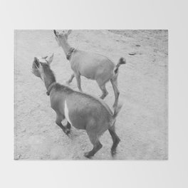 pet goats Throw Blanket