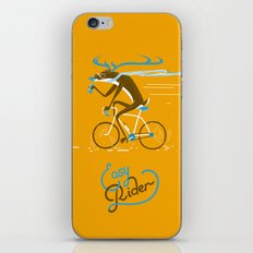 Easy Rider // (cycling hipster deer) iPhone & iPod Skin