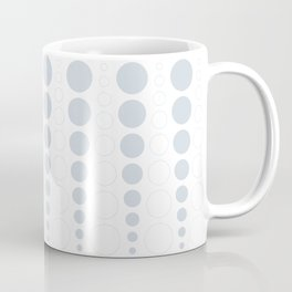 Up and down polka dot pattern in white and a pale icy gray Coffee Mug