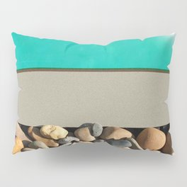 Pool Side - Water and Pebbles Pillow Sham