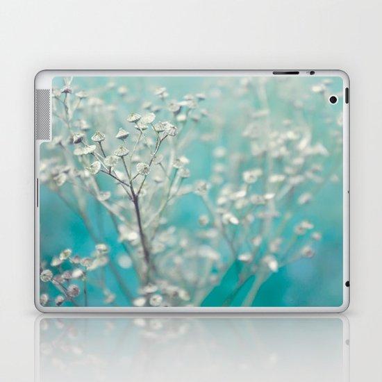 Ice blue - floral Laptop & iPad Skin
