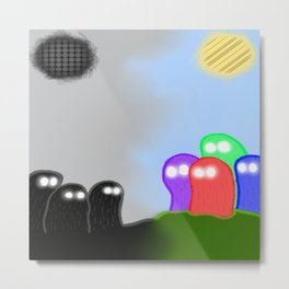 The Colorless Divide  Metal Print