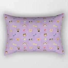 Dog Toy Pattern Rectangular Pillow