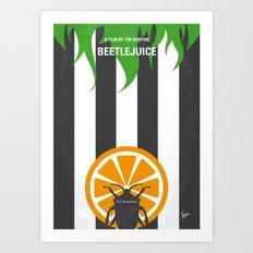 No531 My Beetle juice minimal movie poster Art Print