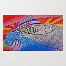 cicada on locust street Rug