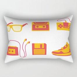 I Love the 80s - Bedroom Items - Sneakers Sunglasses Walkman Video Game Rectangular Pillow