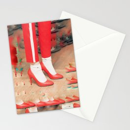 Nikes and red heels Stationery Cards