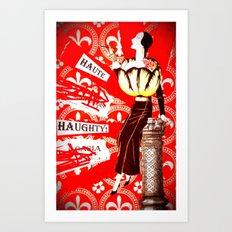 Haute Lady Art Print