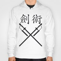 sword Hoodies featuring China Sword by Littlebell