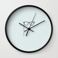 glasses Wall Clocks featuring Glasses by Mr and Mrs Quirynen