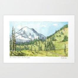 Mount Rainier from Naches Peak Loop Art Print