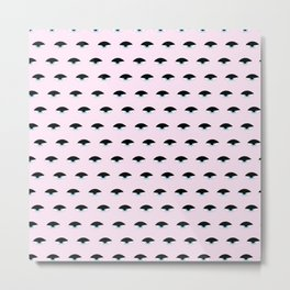 Sleepy Eyes (baby pink) Metal Print