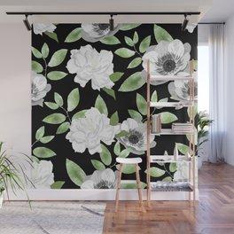 Gardenias & Anemones Wall Mural