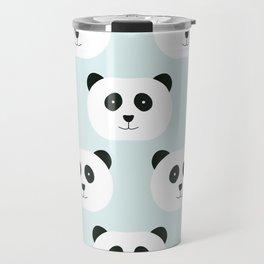 Panda Love- Mint Blue Travel Mug