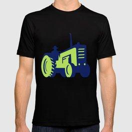 Organic Farmer Driving Vintage Farm Tractor T-shirt