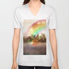 NYC Sky Unisex V-Neck
