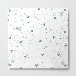 Hearts Background. Seamless Pattern with hearts. Metal Print