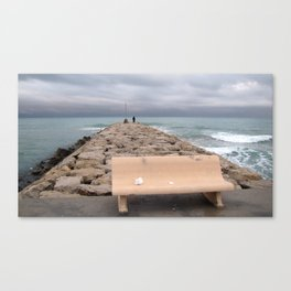 the storm moves away (Sitges) Canvas Print
