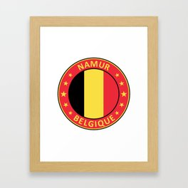 Namur, Belgique Framed Art Print