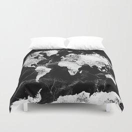 world map marble 4 Duvet Cover