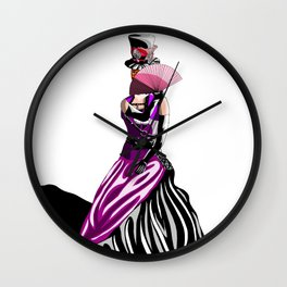 Mysterious Lady Wall Clock