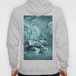 cars and butterflies in moonlight Hoody