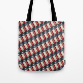 Vintage Texas flag pattern Tote Bag