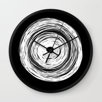 psychology Wall Clocks featuring MHANDALA by THE USUAL DESIGNERS
