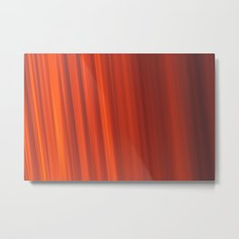 Red & Orange Sunset Stripes Metal Print