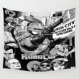'Robocop 1987' Retro Style Movie Poster Wall Tapestry