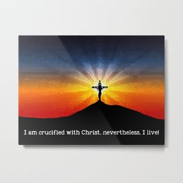 Crucified with Christ Metal Print