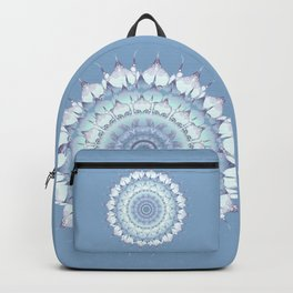 Delicate Mandala pastel ice blue Backpack