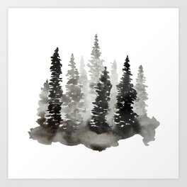 Fading Forest Art Print