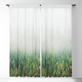 Misty Jasper Pine Forest Blackout Curtain