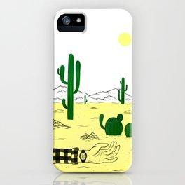 Man & Nature - The Desert iPhone Case