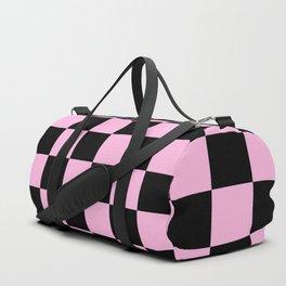 Checkered (Black & Pink Pattern) Duffle Bag