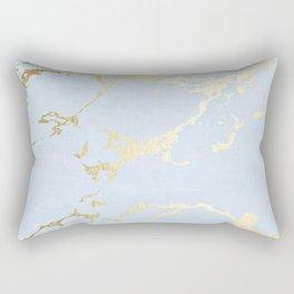 Kintsugi Ceramic Gold on Sky Blue Rectangular Pillow