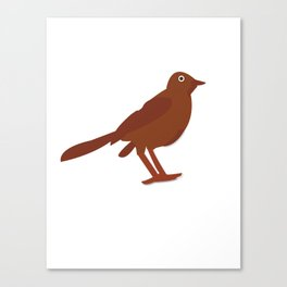 Bird Coffee Canvas Print